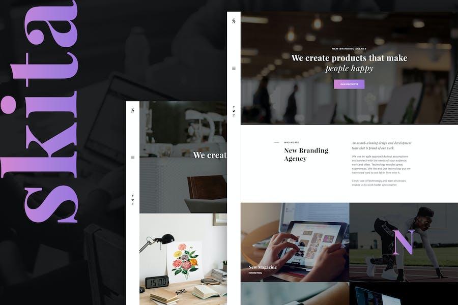Skita - Clean & Modern Agency PSD Template