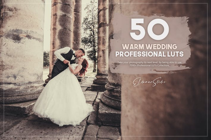 Thumbnail for 50 Warm Wedding LUTs Pack