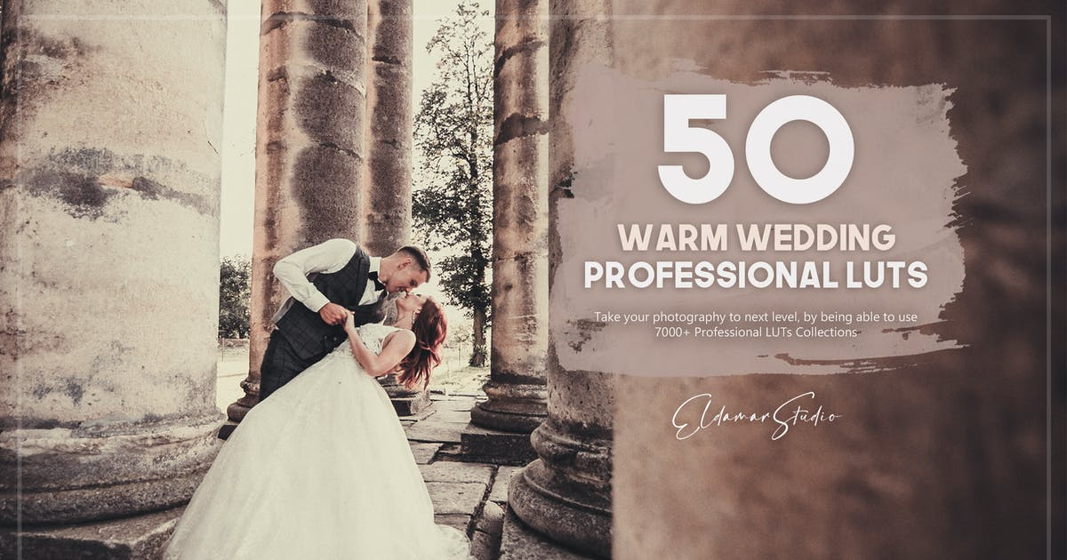 Download 50 Warm Wedding LUTs Pack by Eldamar_Studio
