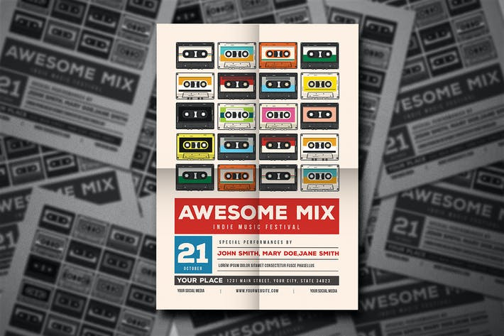 Thumbnail for Awesome Mix Gigs Event Flyer
