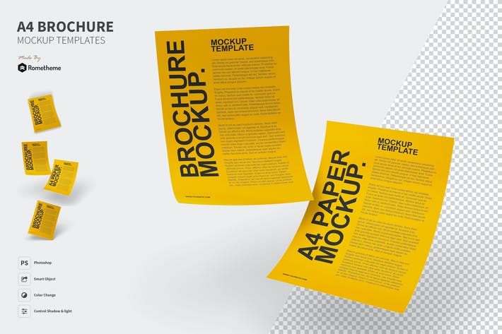Thumbnail for A4 Brochure Mockups FH