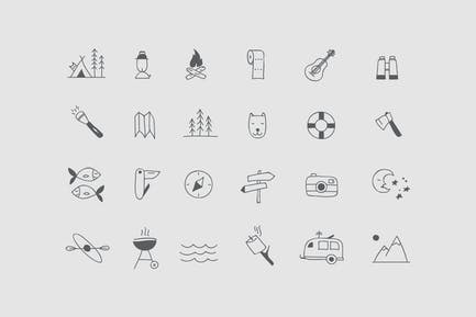 Camping & Hiking Icons