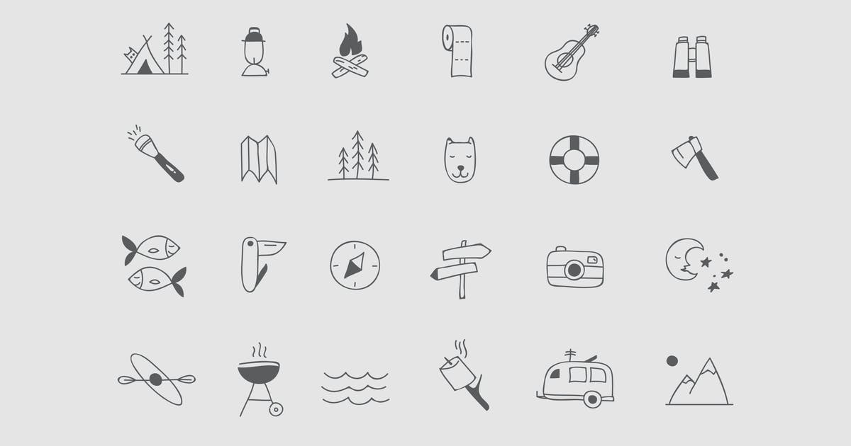 Download Camping & Hiking Icons by Jumsoft