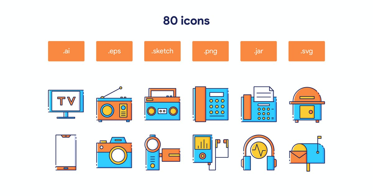 Download Communication and Media Icon Set by TanahAirStudio
