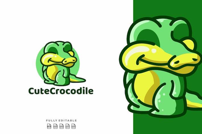 Thumbnail for Cute Crocodile Funny Mascot Logo