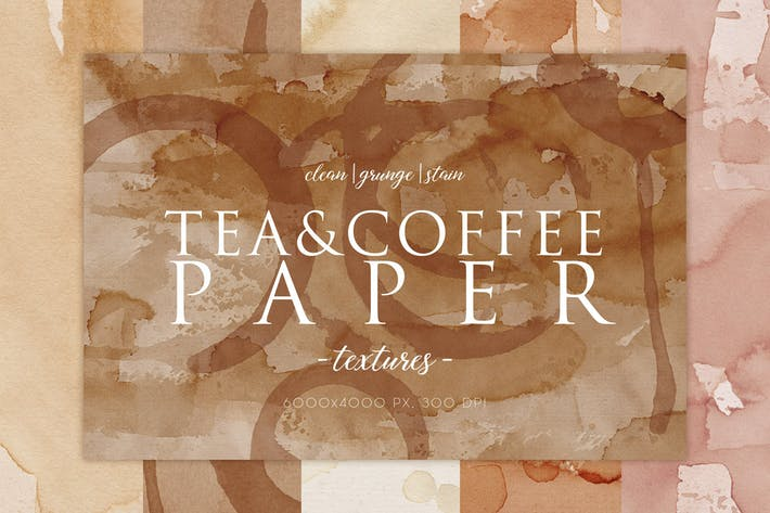 Thumbnail for 15 Coffee Stain Paper Textures