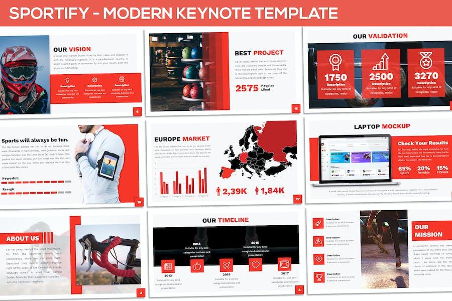 Sportify - Modern Keynote Template