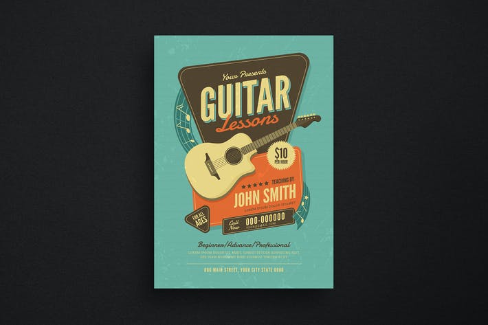 Thumbnail for Guitar Lessons Flyer
