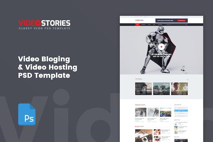 Thumbnail for VideoStories - VLOG & Video Hosting PSD Vorlage
