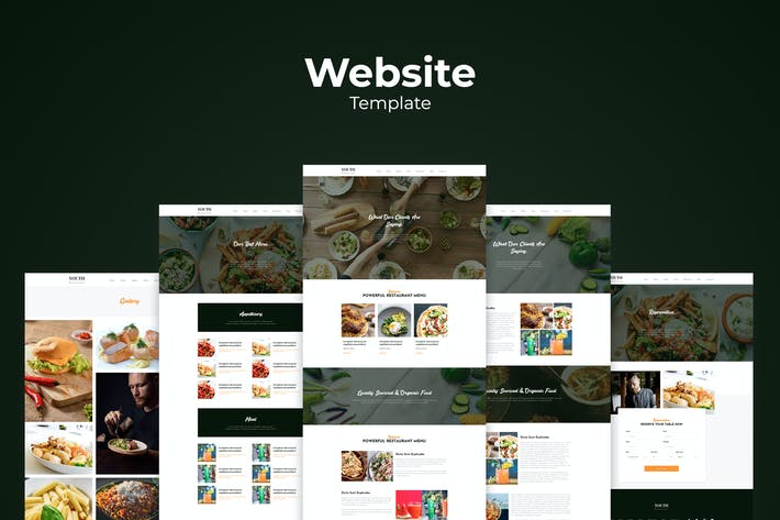 Thumbnail for Resto & Cafe Website Templates