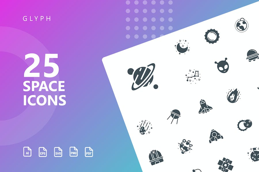 Space Glyphe Icons