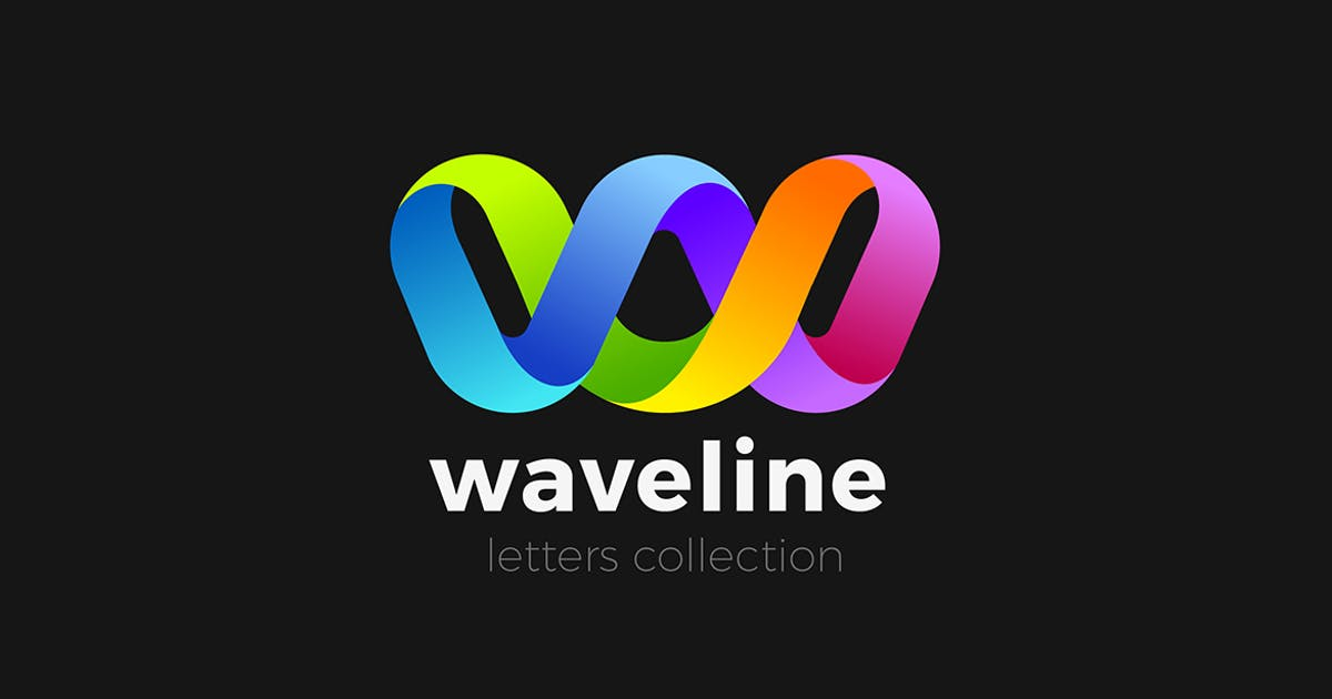 Download Letter W Logo design 3D Ribbon style by Sentavio