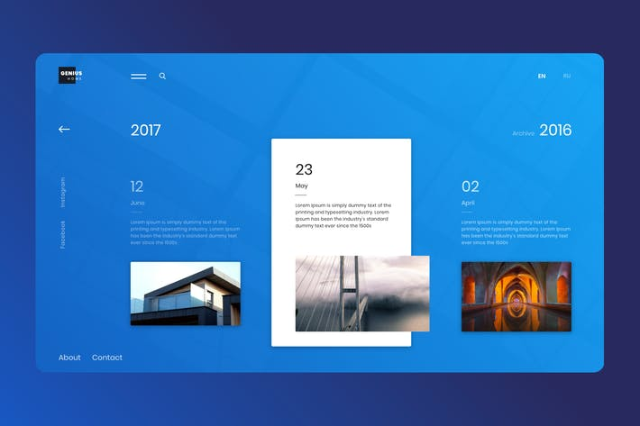Thumbnail for Modern Architecture in Adobe XD Template