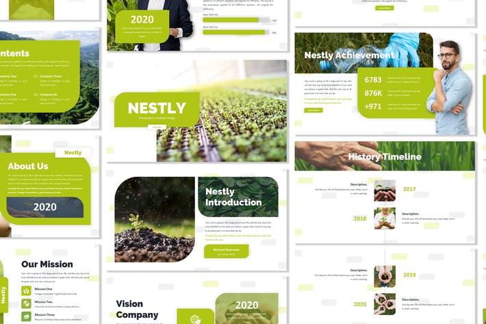 Thumbnail for Nestly - Green Template Prensentation
