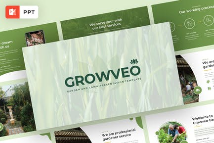 Garden and Lawn Presentation Template