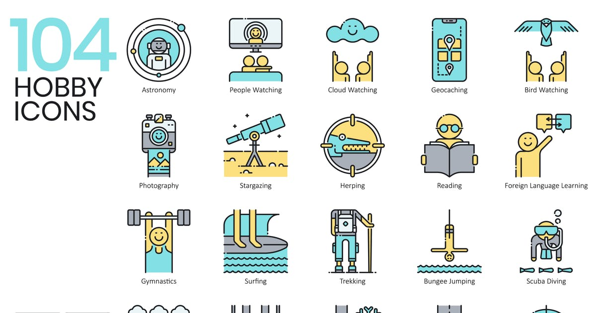 Download Hobby Icons by Krafted