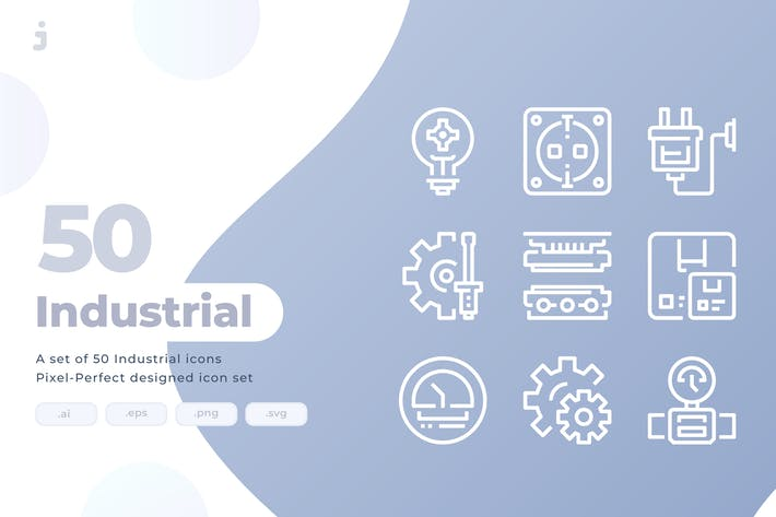 Thumbnail for 50 Industrial Icons