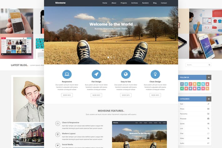 Thumbnail for Moveone - Business Tumblr Theme