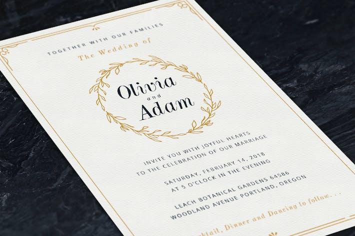 Thumbnail for Invitations de mariage Couronne