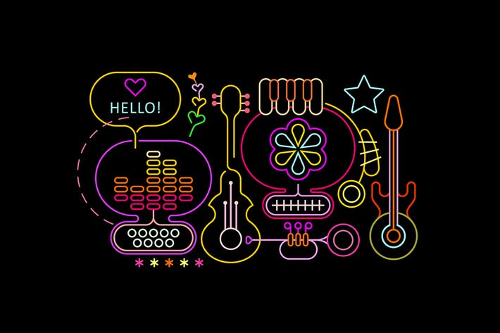 Abstract Musical Design (3 options)