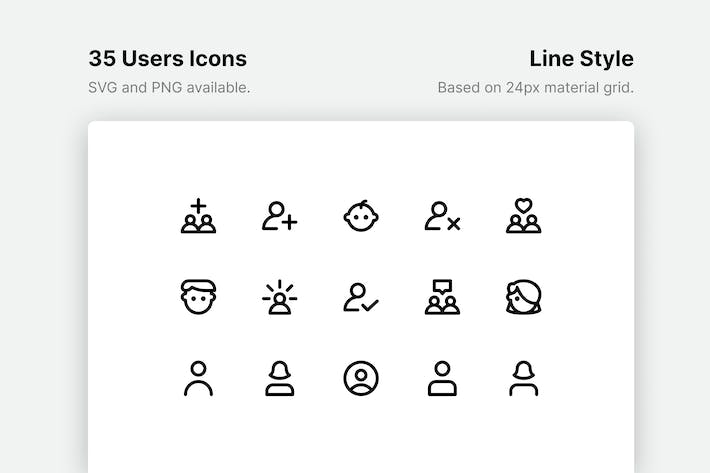 Thumbnail for Users Line Icons