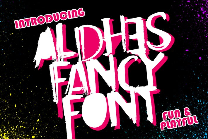 Thumbnail for Aldhes Fancy Font