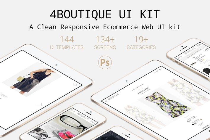 Thumbnail for 4Boutique - A Responsive Ecommerce Web UI KIT PSD