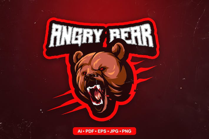 Grizzly Bear 2 Esports and Sports mascot Logo