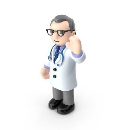De dibujos animados Doctor Mano Izquierda Hasta
