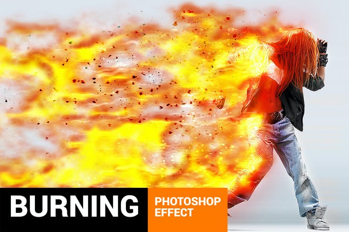 Thumbnail for Burnum - Fiery Storm Photoshop Action