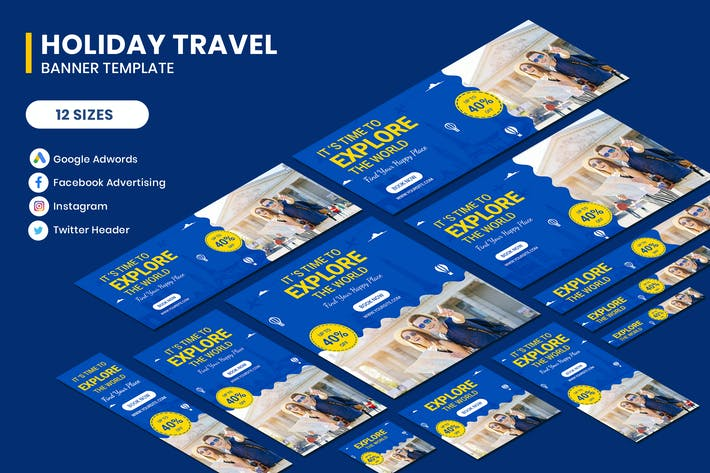 Thumbnail for Holiday Travel Google AD Template