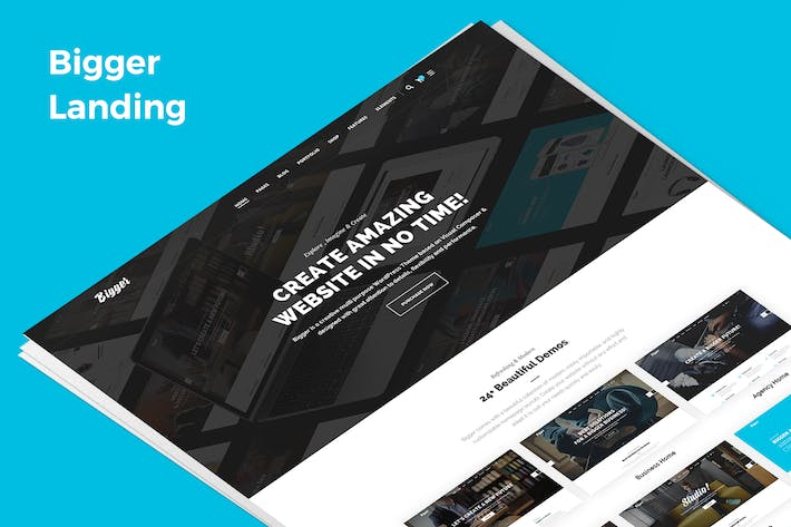 Thumbnail for Bigger Demo Landing PSD Template