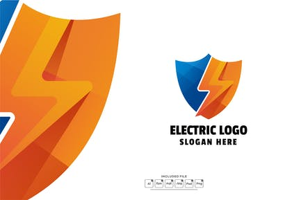 Electric Colorful Gradient Logo Template