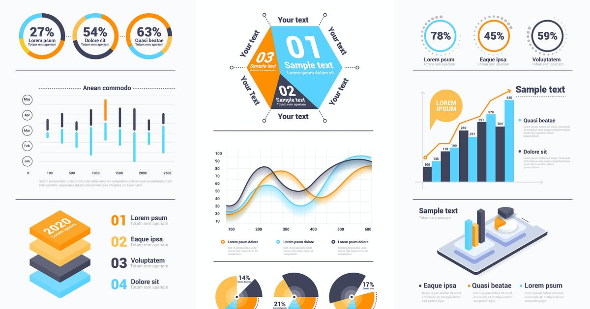 Download Modern Infographics design collection by graphics4u