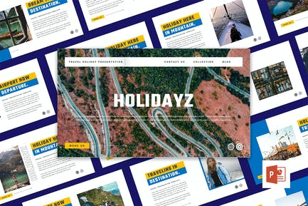 HOLIDAYZ - Travel Holiday PowerPoint Template