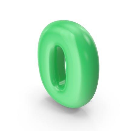 Globo Toon Verde Número 0