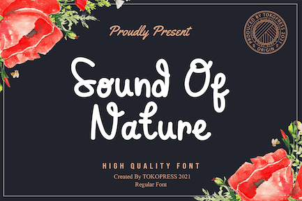 Sound of Nature - Cute Fancy font