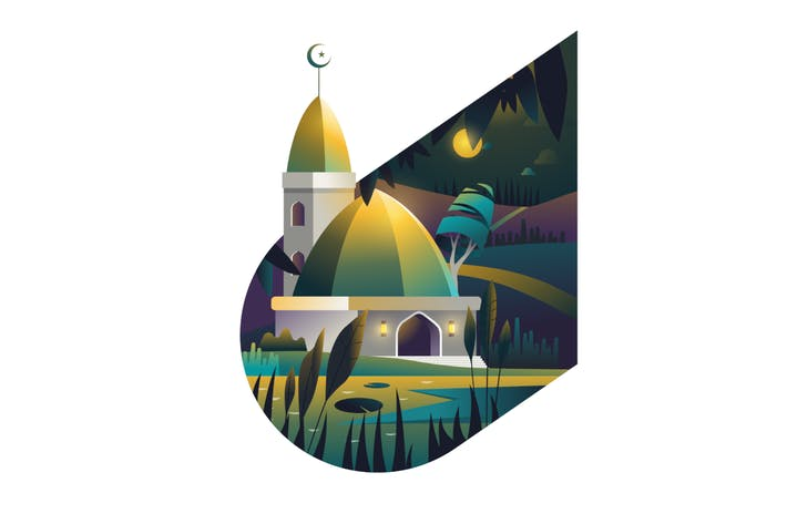Thumbnail for Islamic backround with mosque