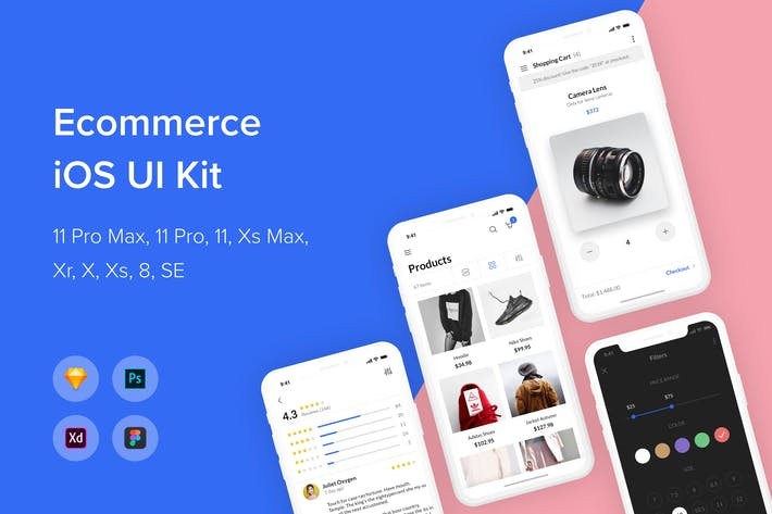 Thumbnail for Ecommerce iOS UI Kit