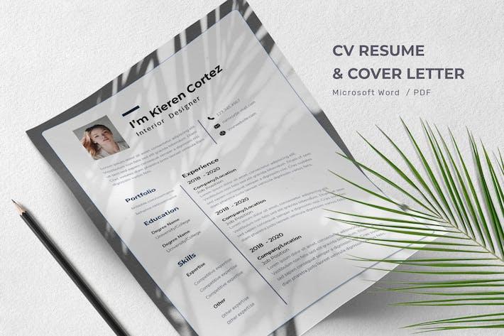 Thumbnail for Kieren Cortez - CV Resume Template
