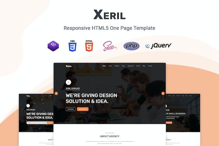 Thumbnail for Xeril - Responsive HTML5 Termplate