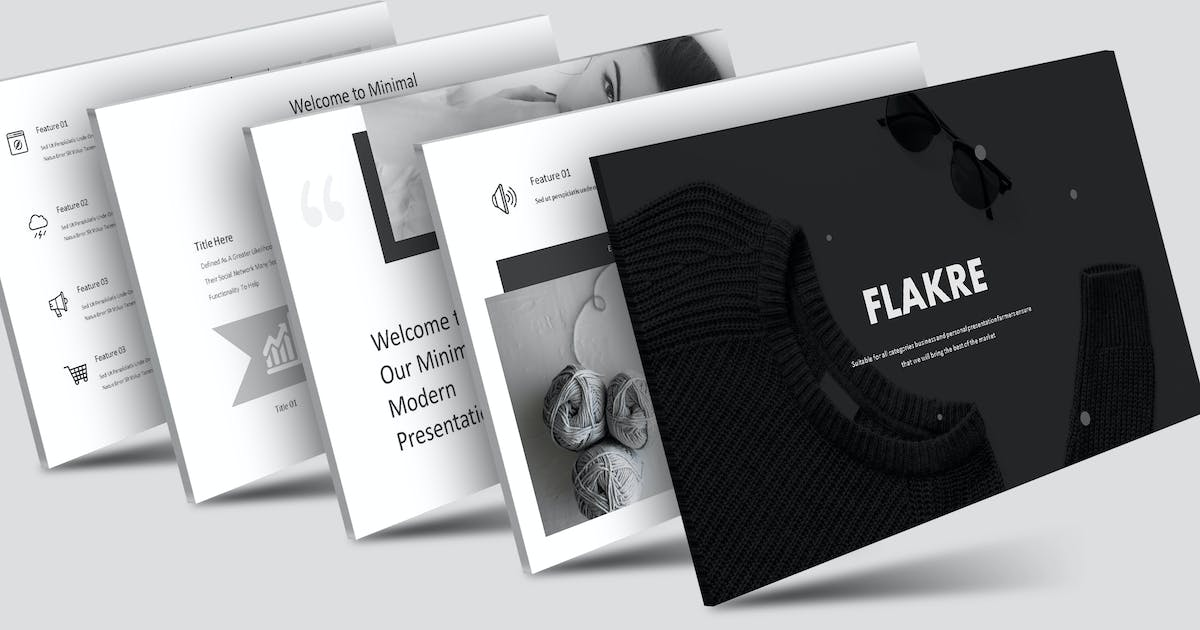 Download Flakre - Keynote Template by aqrstudio