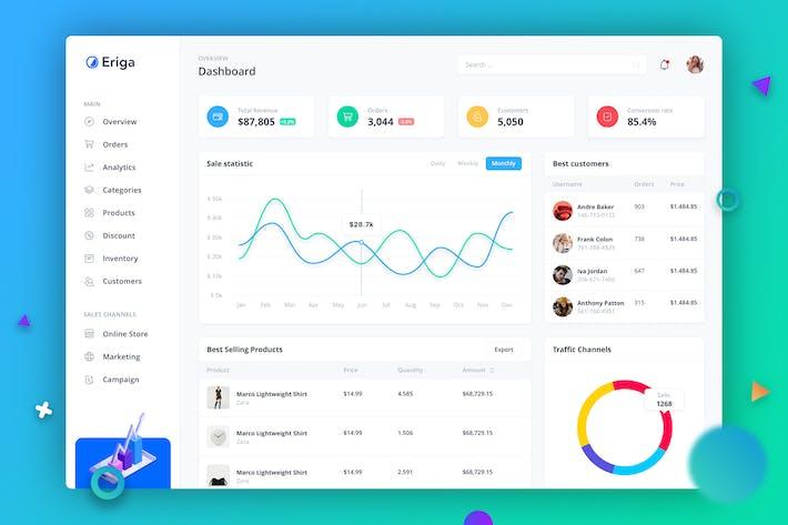Thumbnail for Eriga - Verkauf Dashboard UI Konzept