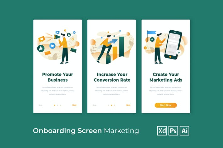 Thumbnail for Onboarding Screen for Marketing App