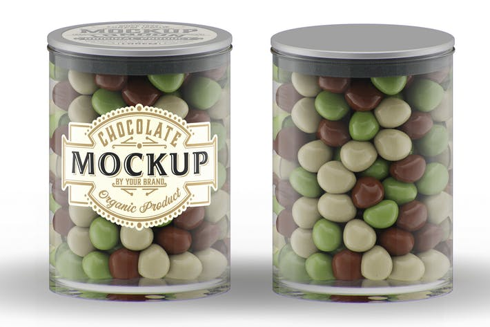 Thumbnail for Glas mit Schokoladenkugeln Mockup