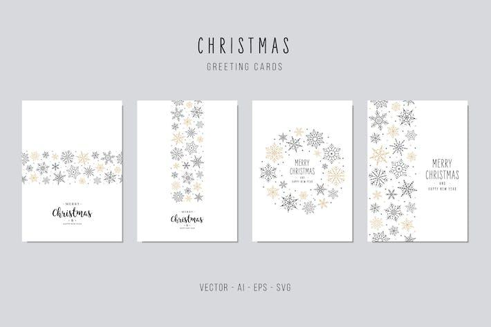 Thumbnail for Christmas Greeting Vector Card Set