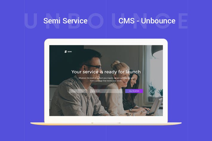 Thumbnail for Page de destination Semi - Service Unbounce