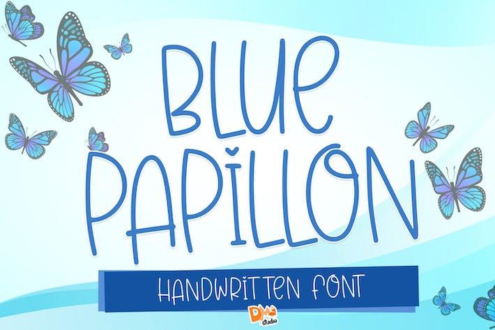 Thumbnail for Papillon bleu - Mignon police manuscrite