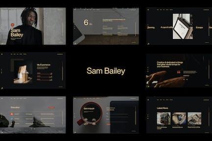 Sam Bailey - Personal CV/Resume WordPress Theme