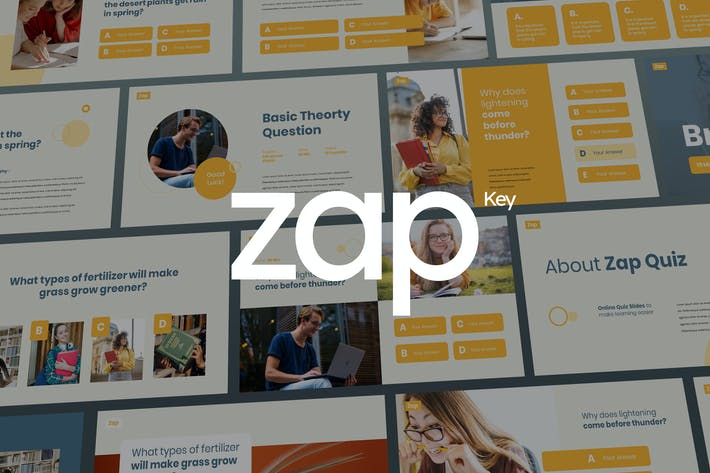 Thumbnail for Zap - Quiz Theme Keynote Template